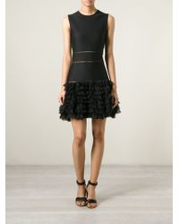 Alexander McQueen Rhombic Embroidered Mini Dress - Lyst
