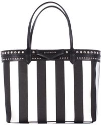"""Givenchy Printed Cotton Canvas """"Antigona"""" Shopping Bag black - Lyst"""
