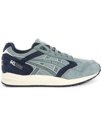 Asics | Gel Saga Blue Two-tone Suede Sneakers | Lyst