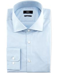 Hugo Boss Sharp-fit Poplin Dress Shirt - Lyst