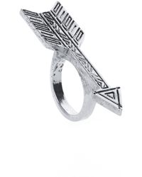 House Of Harlow Yellow Arrow Ring - Lyst