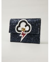 Anya Hindmarch 'Valorie Lightning' Glitter Clutch - Lyst