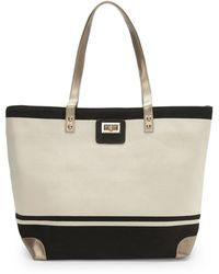 Thursday Friday | Beige & Black Gold Toe Everyday Tote | Lyst