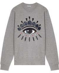 Kenzo Eye Embroidered Sweater - Lyst