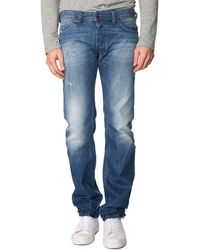 Diesel Safado Light Blue Used Washed-Out Regular-Fit Jeans - Lyst