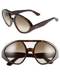 Valentino Women'S 56Mm Aviator Sunglasses - Dark Havana - Lyst