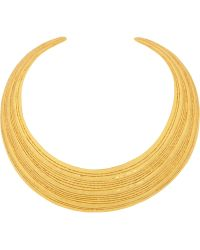 Herve Van Der Straeten - Textured Goldplated Necklace - Lyst