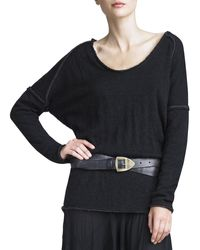 Donna Karan New York Droppedshoulder Doubleface Top - Lyst