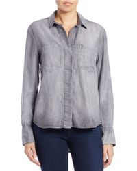 Cloth & Stone - Button Front Faded Top - Lyst
