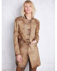 Free People Womens Distressed Leather Blazer - Lyst
