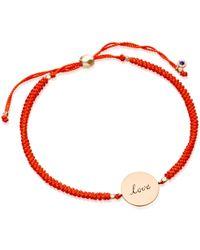 Biography - Hot Coral Love Disc Bracelet - Lyst