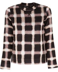 Marc By Marc Jacobs Blurred Gingham Sweater - Lyst