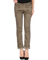 Love Moschino 3/4-Length Trousers green - Lyst