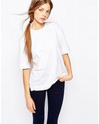 Bethnals - Box T-shirt With Deep Turn Hem - Lyst
