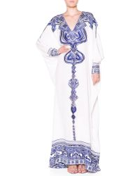 Emilio Pucci Silk Eyelet-embroidered Caftan - Lyst