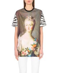 Emanuel Ungaro Zebra-Print Jersey Dress - Lyst