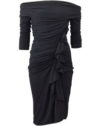 Givenchy Ruch Side Jersey Dress gray - Lyst