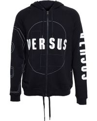 Versus  Hooded Sweatshirt With Logo Print - Lyst
