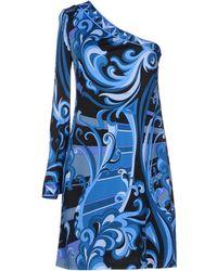 Emilio Pucci Blue Short Dress - Lyst