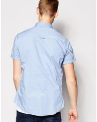Firetrap Short Sleeve Pocket Shirt - Blue