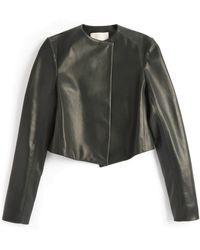 Jason Wu | Leather Cropped Jacket | Lyst