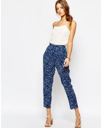 Suncoo Uncoo Printed Pants - Blue
