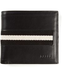 Bally Single Stripe Billfold Wallet - Lyst