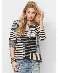 Denim & Supply Ralph Lauren Striped Patchwork Sweater - Lyst