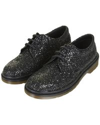 Topshop Kind Glitter Lace Up Shoes - Lyst