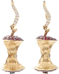 Aurelie Bidermann | Ruby Apple Core Earrings | Lyst