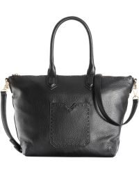 Perlina - Elena Leather Stitched Tote - Lyst