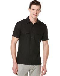 Perry Ellis Short-Sleeve Oxford Shirt - Lyst