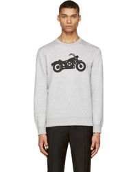 Marc By Marc Jacobs Grey Motorcycle Graphic Sweatshirt - Lyst