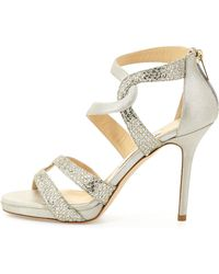 Jimmy Choo Tomar Strappy Glitter Sandal - Lyst