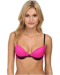 Betsey Johnson Forever Perfect Lace Push Up Bra - Lyst