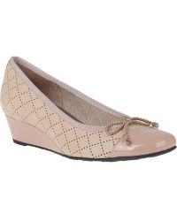 French Sole Filigree Wedge Beige Leather - Lyst