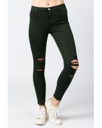 J Brand | Alana High Rise Crop Jean | Lyst