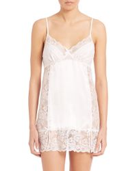 In Bloom | Lace-inset Satin Chemise | Lyst
