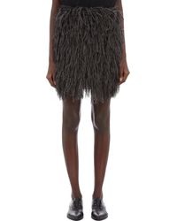 Lanvin Faux-Feather Skirt - Lyst
