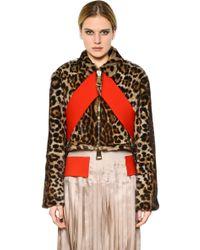 Givenchy Leopard Printed Marmot Fur Jacket - Lyst