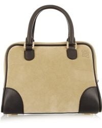 Loewe Amazona 75 Small Suede and Leather Tote - Lyst