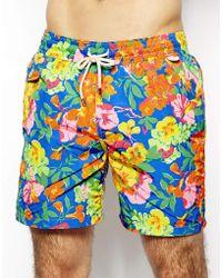 Polo Ralph Lauren Floral Blue Swim Shorts - Lyst