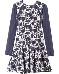Rebecca Taylor Geo Print Pleat Dress - Lyst