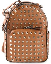 Valentino 'Rockstud' Backpack gold - Lyst
