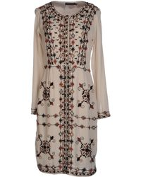 Antik Batik Beige Kneelength Dress - Lyst