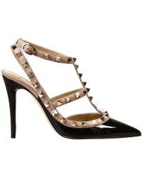 Valentino 10Heel Rockstud Bicolore Patent Shoes - Lyst