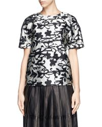 Lanvin Abstract Floral Jacquard Top - Lyst