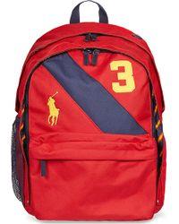 Ralph Lauren Red Banner Backpack - Lyst