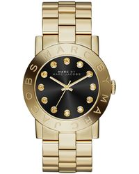 Marc By Marc Jacobs 36mm Amy Crystal Analog Watch with Bracelet Strap Goldenblack - Lyst