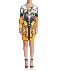 Just Cavalli Graphic-Print Stretch Jersey Dress - Lyst